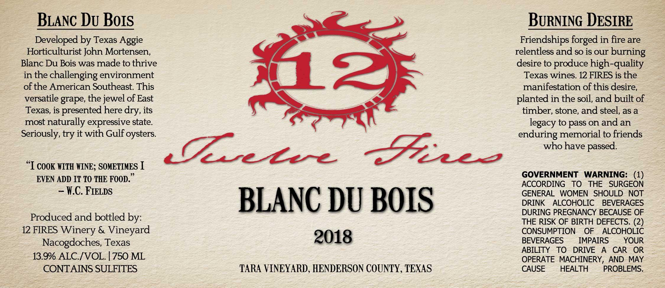 2018 Blanc Du Bois