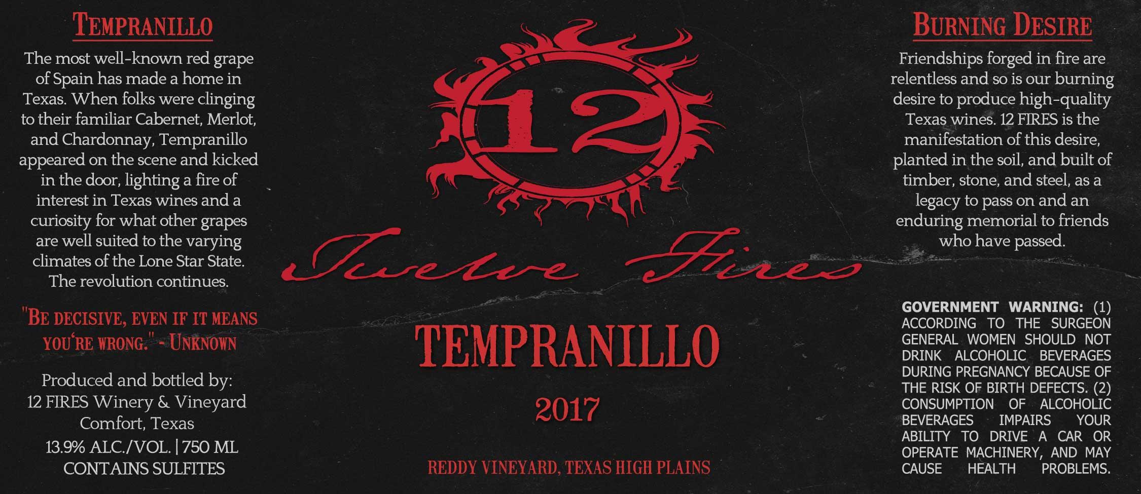 2017 Tempranillo